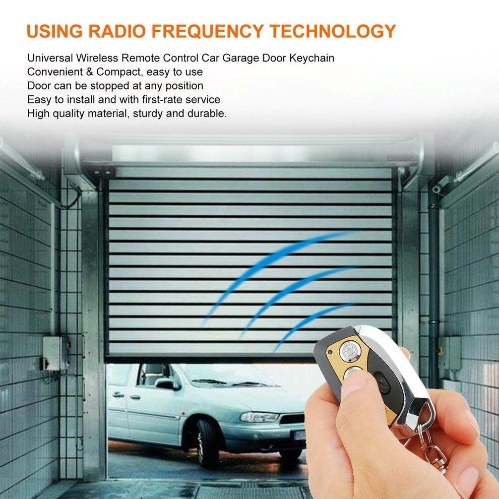 10 pcs Multifonctionnel 4 Boutons 433 mhz Sans Fil Télécommande Clonage Universel De Voiture Porte Garage Porte Clé Porte-Clé Auto Commutateur