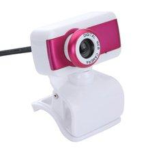 USB 2.0 HD Веб-Камера Камера 1080 P С Микрофоном для Компьютера Обои для Рабочего Портативных ПК Розовый