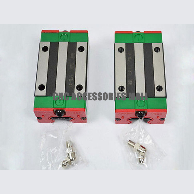 2pcs HIWIN carriage HGH15CA linear guides blocks for HIWIN linear rail HGR15 2pcs sbr25 l1500mm linear guides 4pcs sbr25uu linear blocks for cnc