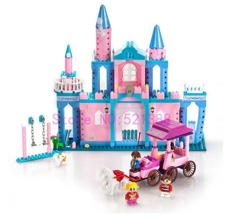 ФОТО Super Large Building Blocks Set Compatible with lego Friends 532 Pcs 4 Toy Figures Princess Castle Bricks Toys for Girls