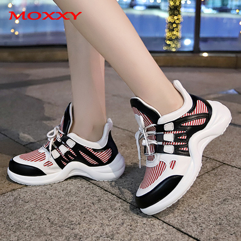 Plus Size 43 Fashion Womens Dad Sneakers 2019 Brand Designer Ugly White Chunky Sneakers Women Shoes Trainers Chaussures Femme