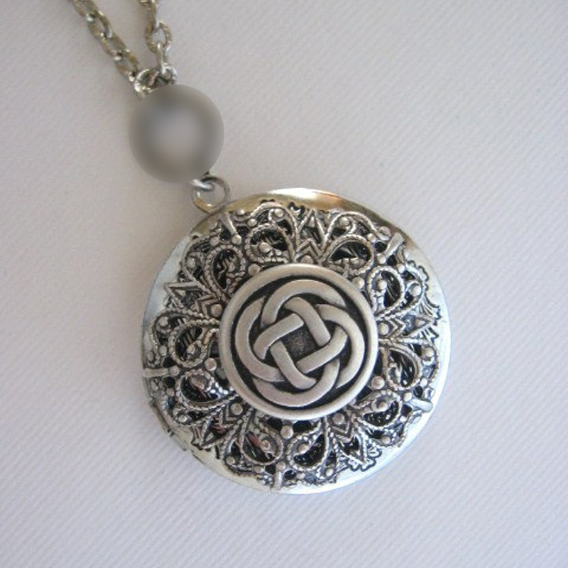 1pc Irish Knots Pendant Lockets Flower