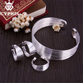 WHOLESALE Line net Wave Style  Hot silver Jewelry Sets Women Wholesale Fashion Jewelry Set earring ring bangle cuff open 925