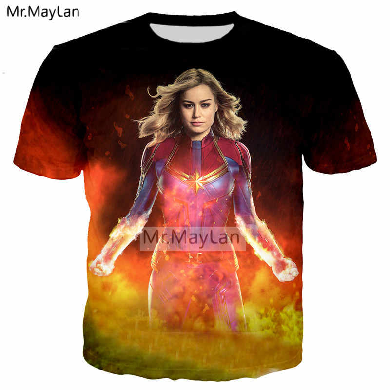4f4c97ee Detail Feedback Questions about Movie Captain Marvel Carol 3D Print 2019  New Design Tshirt Women/Men Hipster Crewneck T shirt Boys Cool T shirt  Clothes ...