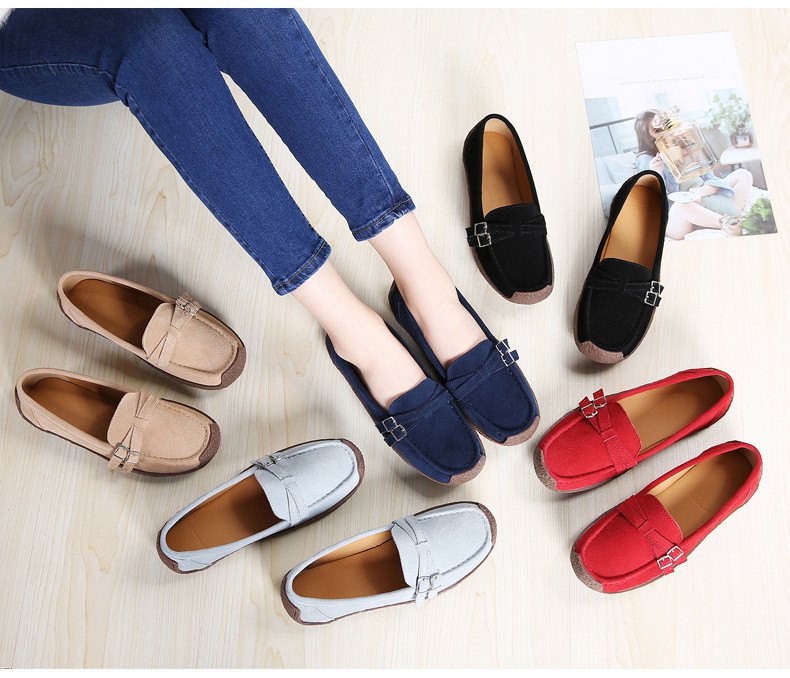 HX 7732-2019 Spring Autumn New Arrival Genuine Leather Women Flats Shoe-1