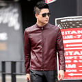 1pcs Men's leather motorcycle jacket blazers 2017 Spring Genuine leather TurtleNeck Jacket Men Skinny blazers Coats Young man