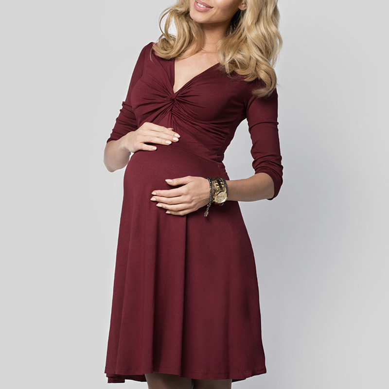 spring summer maternity clothes 2018 pregnant women solid