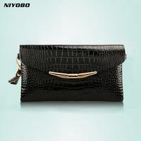 Genuine Leather Women Clutch Bags 2016 Cowhide Purse Evening Party Handbags Ladies Small Shoulder Bags PT1067