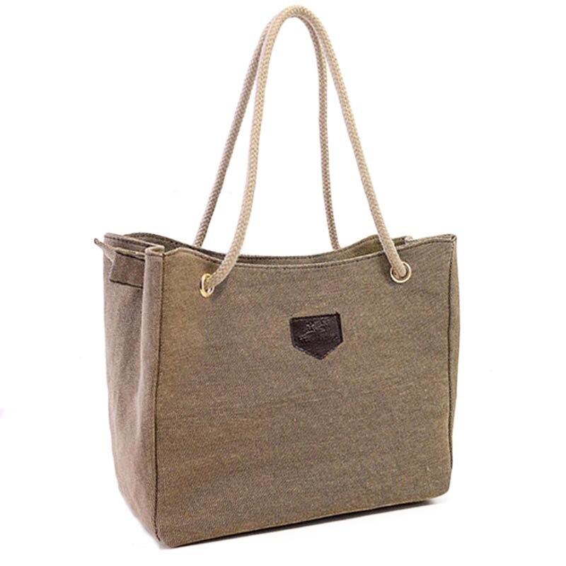 With Gifts!Fall 2017 new canvas handbag personality contracted large bag rope single shoulder bag women handbag big bag