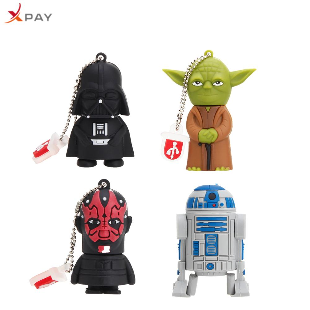Star wars cartoon 128GB pendriver 2.0 Silicone usb flash drive 4GB 8GB 16GB 64GB all styles for gift Pen drive free delivery-in USB Flash Drives from Computer & Office