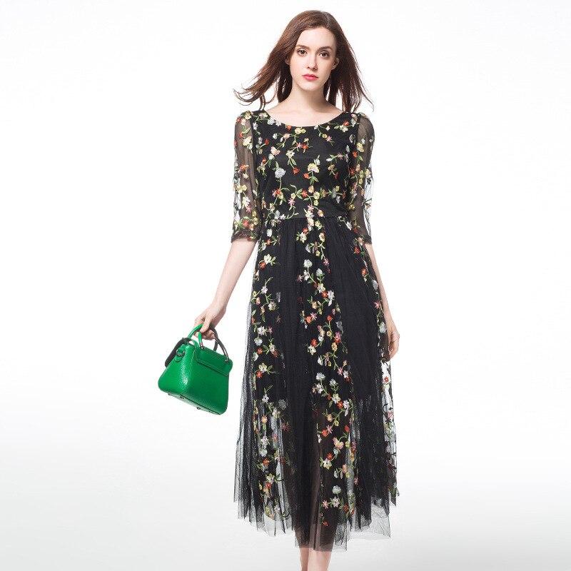 Buy Cheap TAOYIZHUAI Women Dresses Elegant Sundress Summer Dress 2017 Plus Size L-5XL Fit 100 Kg Half Sleeve Print Lace Dress vestidos