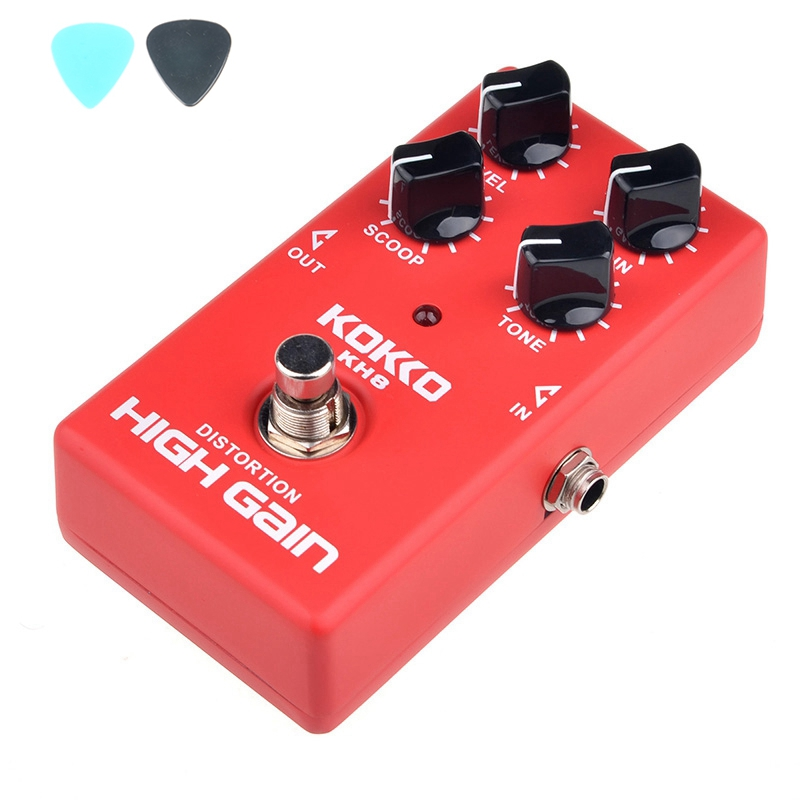 KOKKO KH8 HIGH GAIN DISTORTION Electric Guitar Effect Pedals Guitar Accessories proco sound you dirty rat distortion guitar effect pedals
