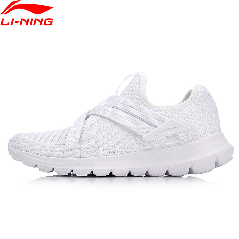 Li-Ning Women FLEX RUN V2 Running Shoes Light Weight Mono Yarn LiNing Breathable Sport Shoes Comfort Sneakers ARKN008 XYP672