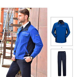 Image 2 - Men Women Work Clothing Set Long sleeve Jacket and Pants Work Overalls Working Uniforms For Factory Welding Machine Repair
