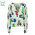 LIKEPINK 2016 Autumn Women Cardigans Cartoon Cute printing Sweater Lovely Christmas Sweater Cashmere Sweater Women Pull Femme