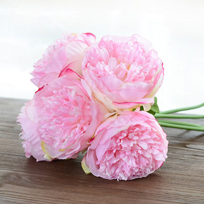Whimsical pastel white champagne pink peony bouquet artificial whimsical pastel white champagne pink peony bouquet artificial flower wedding bouquet in artificial dried flowers from home garden on aliexpress mightylinksfo