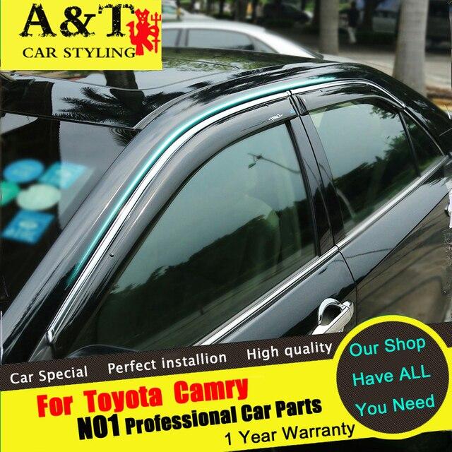 Para carro styling 2015-16 Para Camry Camry Chuva escudo Janela chuva escudo chuva sobrancelha especial Originais bloco tempestade janelas