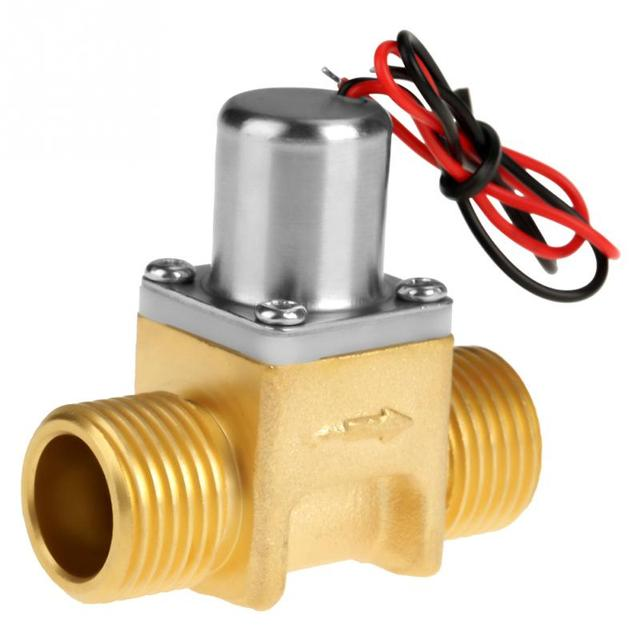 "DC4.5V 1/2"" Water Flow Pulse Solenoid Valve Brass Electromagnetic Valve for Induction Cleaner Garden Irrigation"