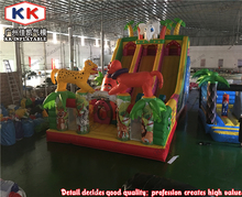 Safari inflatables jungle animal lion bouncer slide for kids
