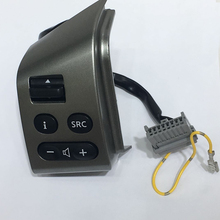 For SYLPHY & FOR Nissan LIVINA & FOR TIIDA steering wheel control buttons left side with cables silver button with backlight nappa leather steering wheel cover for old nissan tiida livina sylphy note bluebird sylphy g11 ng1 braid on the steering wheel