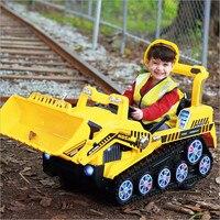 Fengda дети экскаватор может сидеть большой электрический экскаватор мальчик игрушечный автомобиль инженерных грузовик бульдозер автомобил