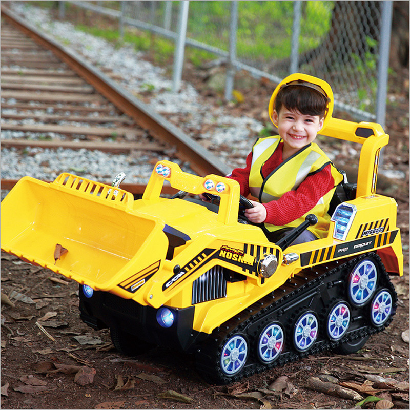 Fengda enfants pelle peut s'asseoir grande pelle électrique garçon jouet voiture ingénierie camion Bulldozer voiture jouets pour garçons tracteur jouet