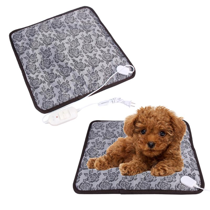 45*45cm Pet Heating Pad Dog Cat Waterproof Electric Heating Mat Heater Warmer Bed Blanket Pet Heating Mat Pets Acessorios 220V dual pvc mesh pet dog cat toilet bed pan blue size s