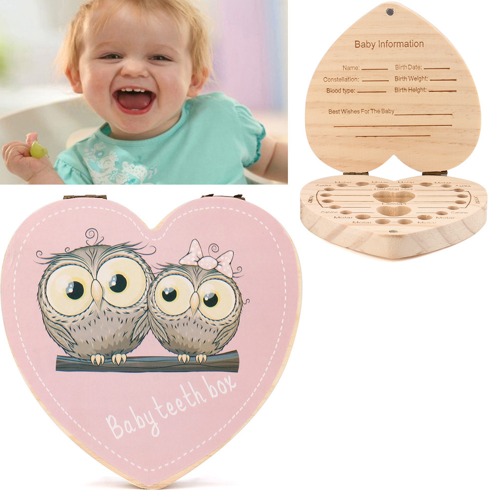 Best Sale Baby Teething Box Organizer Baby Save Milk Teeth Wood Storage Box Super Quality Dentes De Leite Organizador