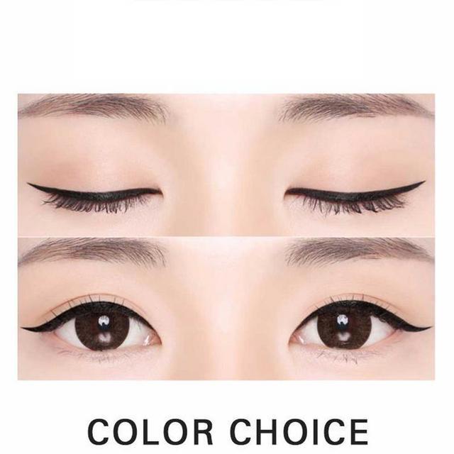 1pcs Eyeliner Waterproof And Sweat Not Dizzy Catch Wine Red Brown Liquid Eyeliner Pen Eye Makeup For Beauty Makeup Beginners 4