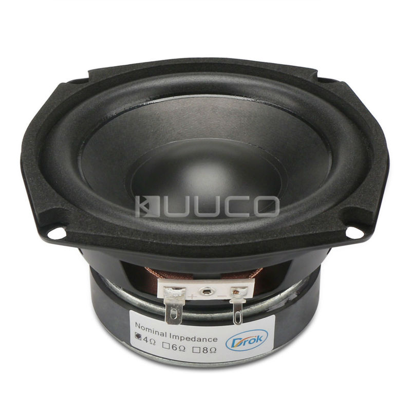 Shocking Bass Speaker 4.5-inch 4 ohms Subwoofer Speaker 40W Hi-Fi Stereo Loudspeaker Woofer Speaker for DIY speakers audio loudspeaker 40w woofer speaker double magnetic speaker 4 5 inch 4 ohms subwoofer bass speaker for diy speakers