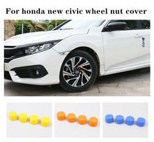20pcs/set Wheel Nut Caps Silicone Antirust Hub Screw Cover Car Decorative Accessories For Honda New Civic 2016 2017 2018 car door lock screw protector cover waterproof antirust for honda civic 2016 2017 2018 car accessories