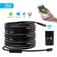 Wifi Endoscope Camera 3M Android 720P Iphone Borescope Camera Endoscopio Semi Rigid Hard Tube Snake Industrial