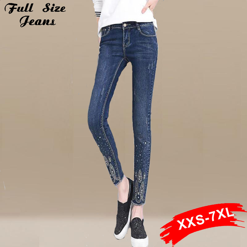 Online Get Cheap Rhinestone Jeans for Women Plus Size -Aliexpress ...