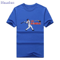 New 2017 Javier Baez La Bomba Chicago T Shirt 100 Cotton For Cubs Fans T Shirt