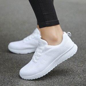 أحذية امرأة أحذية رياضية الأبيض منصة المدربين النساء حذاء عارضة تنيس Feminino Zapatos دي موهير Zapatillas إمرأة حذاء رياضة سلة