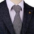 "H37 Black White Gray Grey 2.76"" Herringbone Tweed Mens Ties Neckties Wool Blend 7cm Free Shipping Fashion Casual Formal Business"