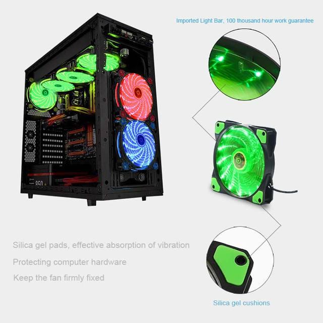 New 12cm Ultra Silent LED Case Fans 3