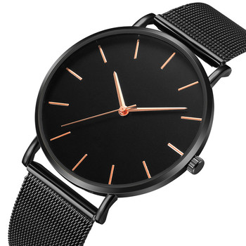 Luxury Stainless Steel Ultra-thin Unisex Wrist Watches 3