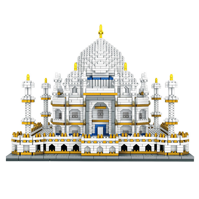 3950pcs DIY World Famous Architecture India Taj Mahal Palace 3D Model Diamond Mini Building Nano Blocks Toy for Children Gifts in Blocks from Toys Hobbies