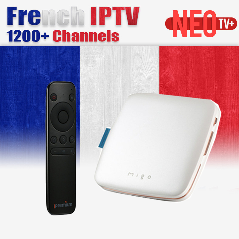 French IPTV MIGO Ipremium Android Tv Box Europe French Canal IPTV Arabic Belgium Channels NeoTv Subscription