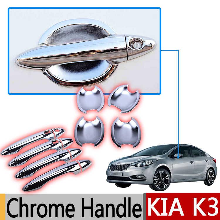 Pour Kia K3 Cerato ABS garnitures chromées Portes Poignée Accessoires Autocollants Voiture Style 2010 2011 2012 2013 2014 2015 2016