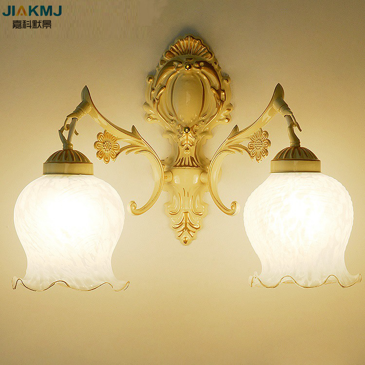 Contracted, personality creative wall lamp, Wrought iron antique european-style double head wall lamps bedroom lamps contracted personality creative wall lamp wrought iron antique european style double head wall lamps bedroom lamps