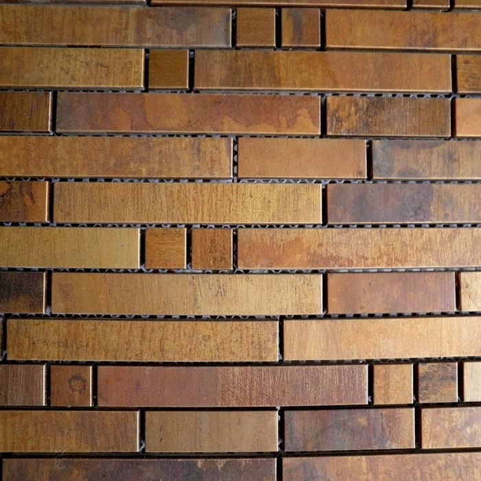 Bronze Br Backsplash Metal Mosaic Tile Home Improvement Hallway Kitchen Dining Room Bathroom Shower Tiles