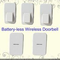 3 Push Buttons 2 Indoors Chime Battery Less Wireless Doorbell Door Bell Cordless 110m Long Range