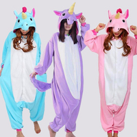 Onesie Unicorn Tenma Adults Flannel Pyjama Suits Cosplay Costumes Garment Cartoon Animal Onesies Pajamas Halloween Sleepwear