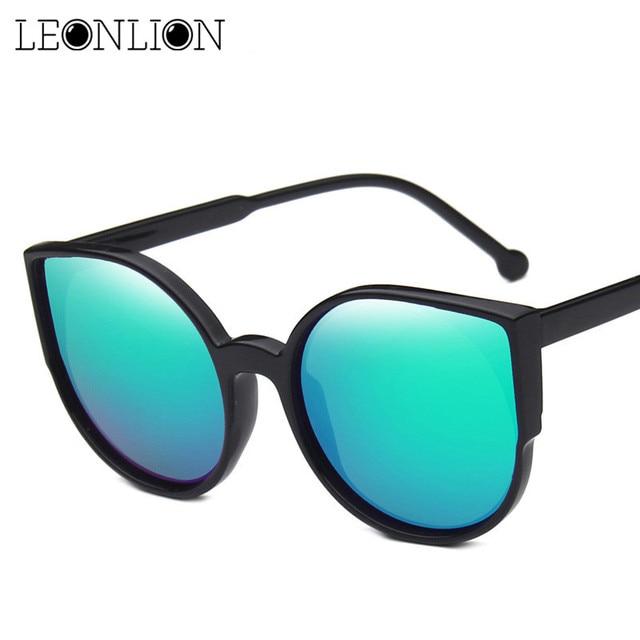 LeonLion 2018 Doces de Moda óculos de Sol Olho de Gato Mulheres Óculos de Sol de Luxo Para As Mulheres Oculos de sol Feminino Óculos Retro Clássico