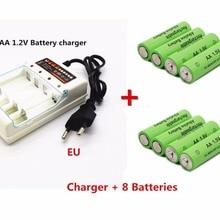 Dolidada новым ярлыком 3000 MAH перезаряжаемые батареи AA 1,5 V. Перезаряжаемые Alcalinas drummey+ 1 шт., размер: 4-элементная батарея зарядное устройство