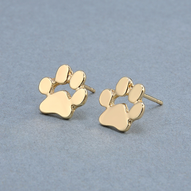 Cute Cat and Dog Pow Stud Earrings Ear Jewelry Earrings For Women Fashion Statement Jewelry Gifts Free shipping 4