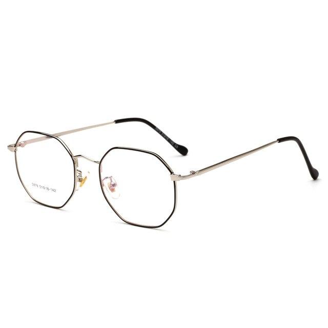 6c9ab4e85e Eyeglasses Glasses Unisex Solid Alloy Lunette De Vue Eye Glasses Frames For  Polygon Metal Frame 2018 New Men s Tee Ms. Retro. 1 order
