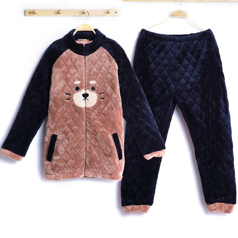 Warme Winter Weichen Flanell Pyjamas Sets Frauen/Männer Nachtwäsche Set Für Paar Warme Tier Liebhaber Nachtwäsche Weibliche - 6